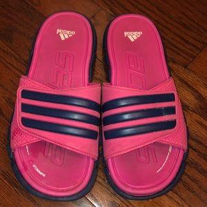 Adidas Pink & Black Slides Size 7